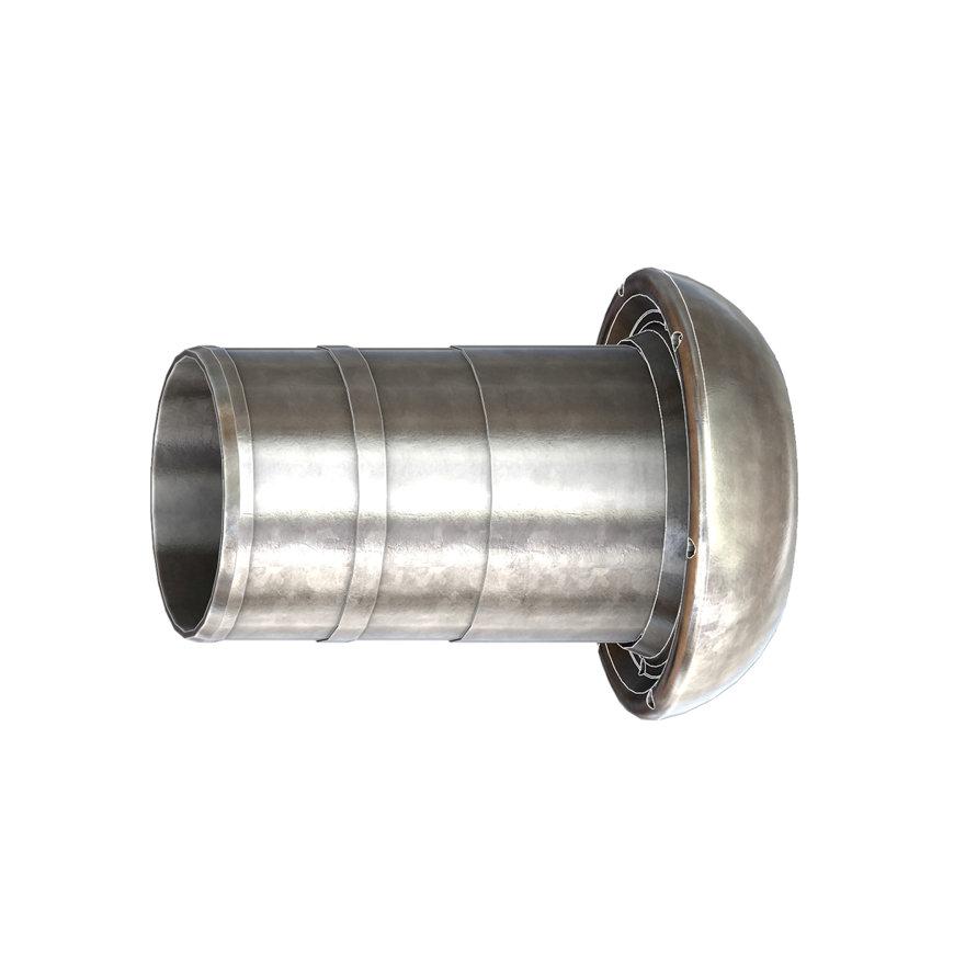 Dallai V-Teilx Schlauchtülle, ModellC, verzinkt, schwer, 159x 150 mm