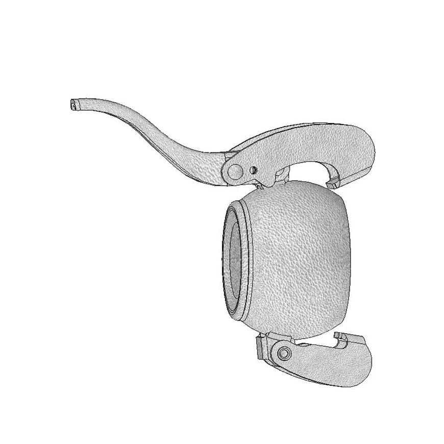 Dallai V-deel eindkap, type B, verzinkt, 159 mm