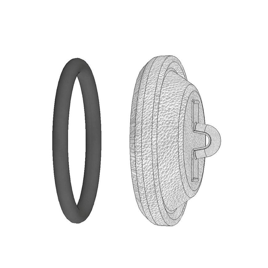 Dallai M-Teil-Verschlusskappe, ModellB, verzinkt, 194 mm