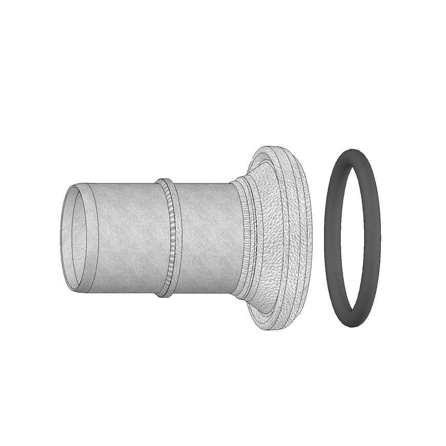 Dallai M-deel x slangtule voor platte slang, type B, verzinkt, 50 x 50 mm