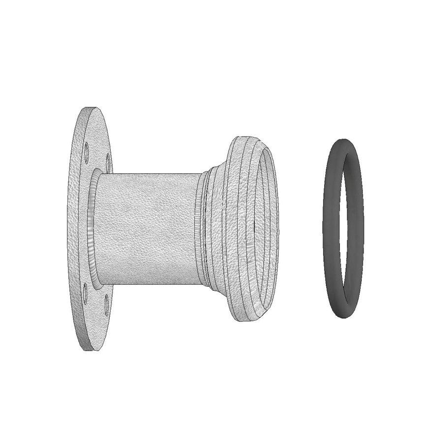 Dallai M-deel x ronde flens, type B, verzinkt, 250 x 250 mm