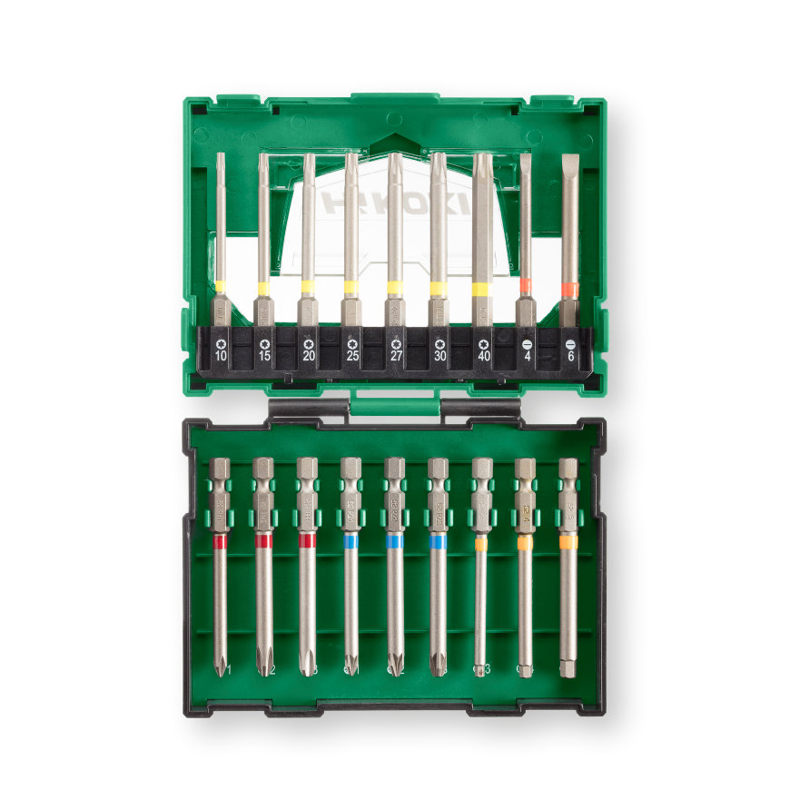 HiKOKI bitset, bitbox ll, 18-delig, 75 mm bit