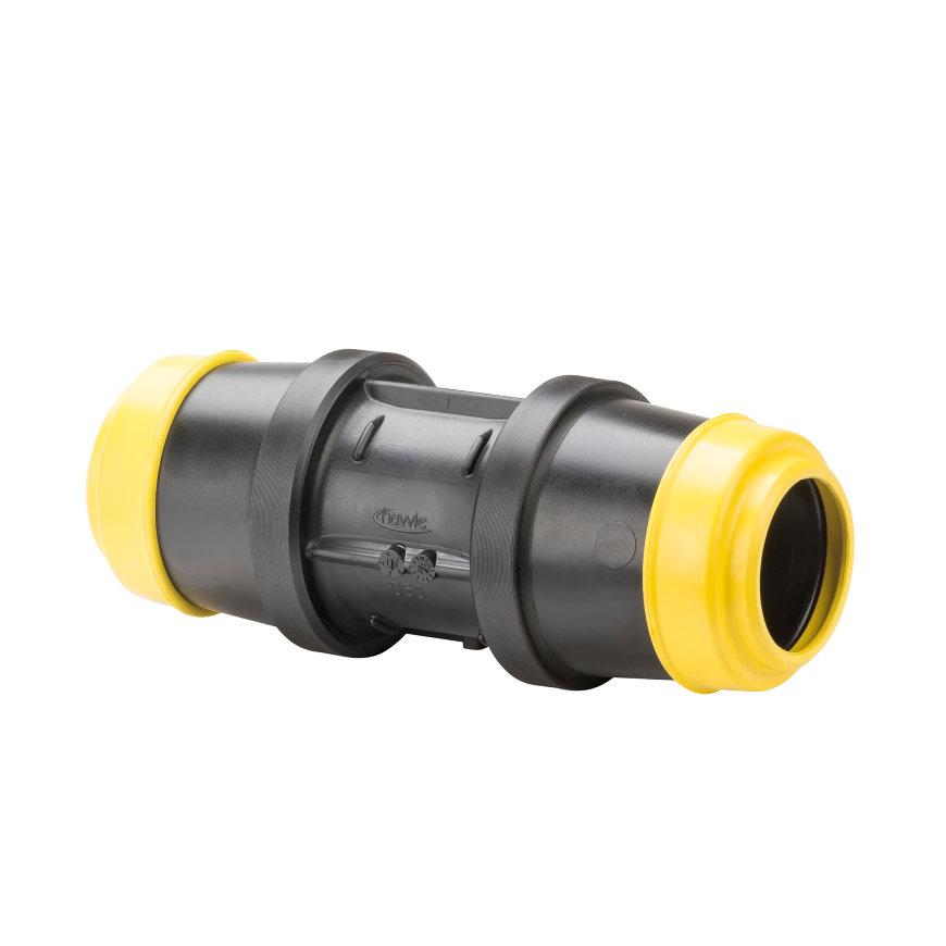 Hawle koppeling, zwart, Gastec QA, type K6325, 2x steek, 40 mm