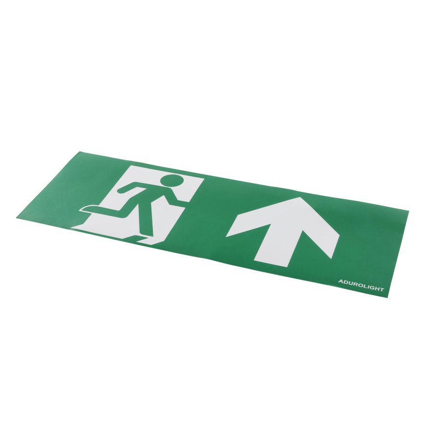 Adurolight® pictogram sticker noodverlichting, pvc, pijl naar boven