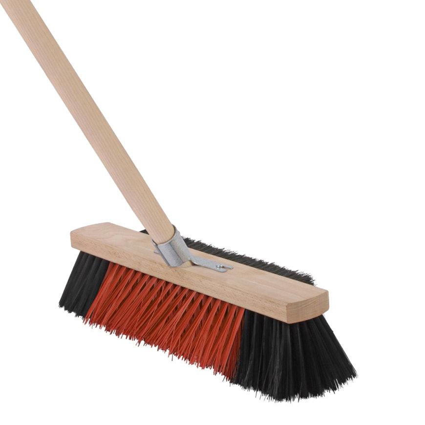 Talen Tools bezem, 3 in 1, kunststof haren, 40 cm, steel 160 cm