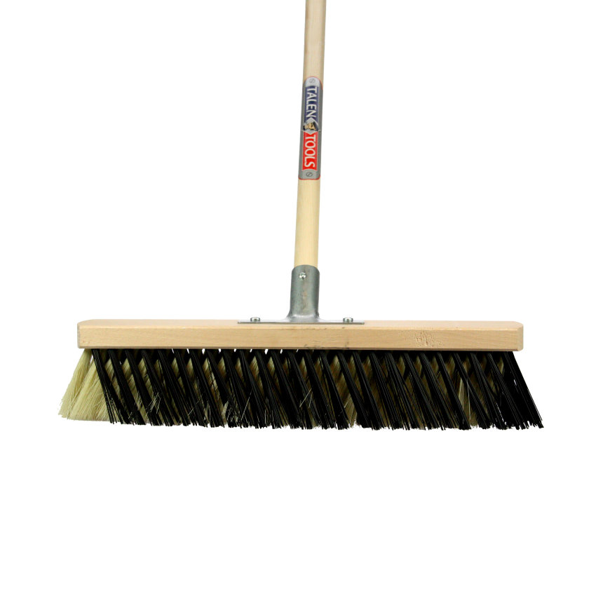 Talen Tools X-bezem, voor binnen, kunststof haren, 40 cm, crème/zwart, steel 150 cm