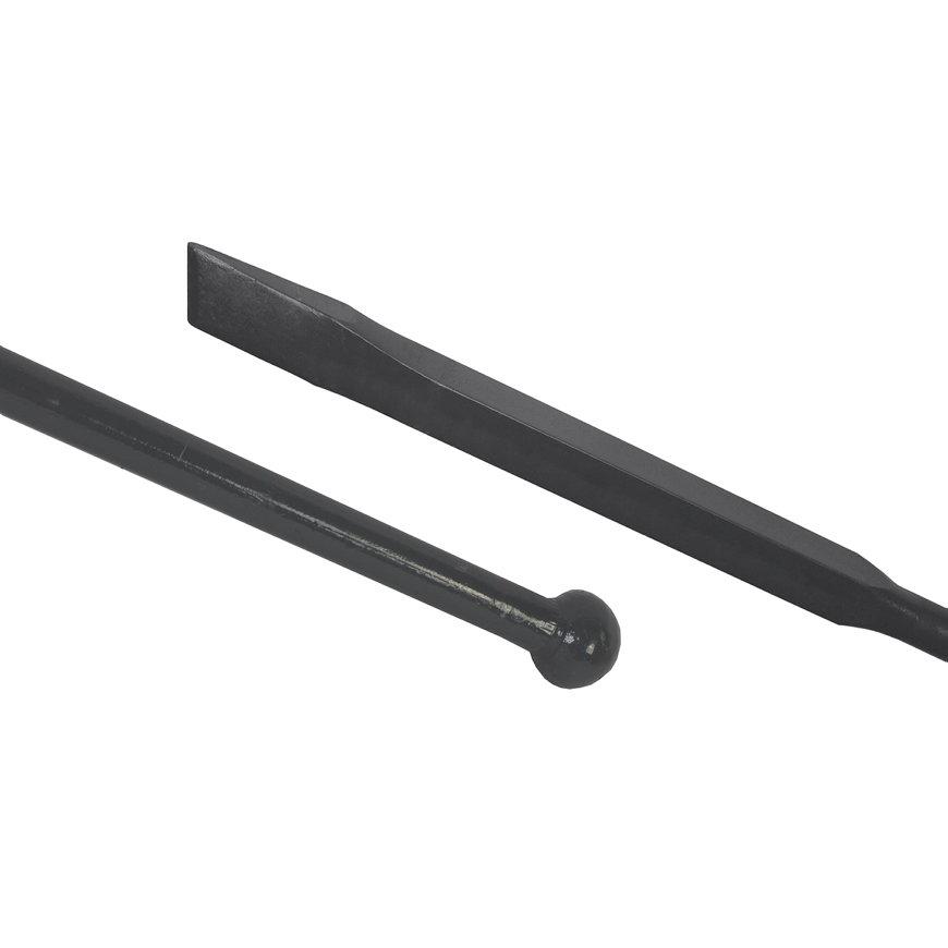 Stootijzer, rond/vierkant, 40 cm, 1400 mm
