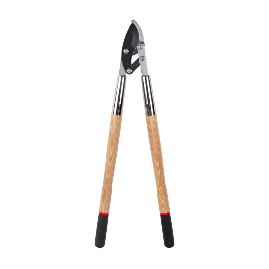Takkenschaar, professioneel, gesmeed staal, max 38 mm, essenhout stelen