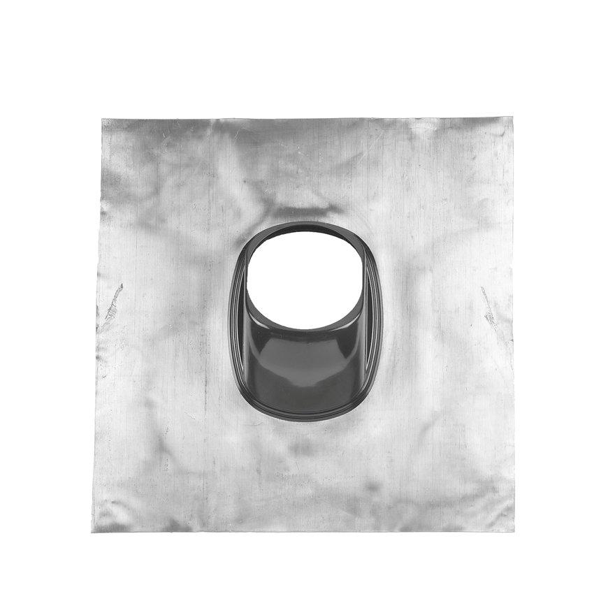 Ubbink dakdoorvoerpan, lood, 131 mm, universeel, naturel, dakhelling 25 - 45°, 500 x 500 mm