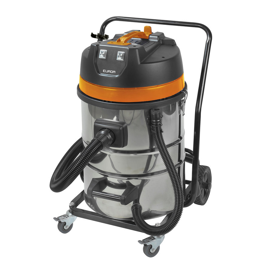 EUROM nat- / droogstofzuiger, type Force 2070 wet/dry, stoffilter, 230 V, 2000 W