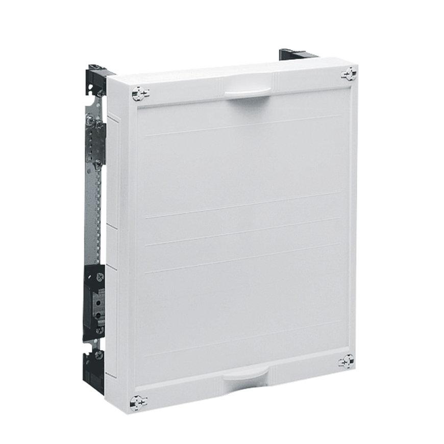Hager gesloten DIN railunit, horizontaal, leeg, 300 x 250 mm