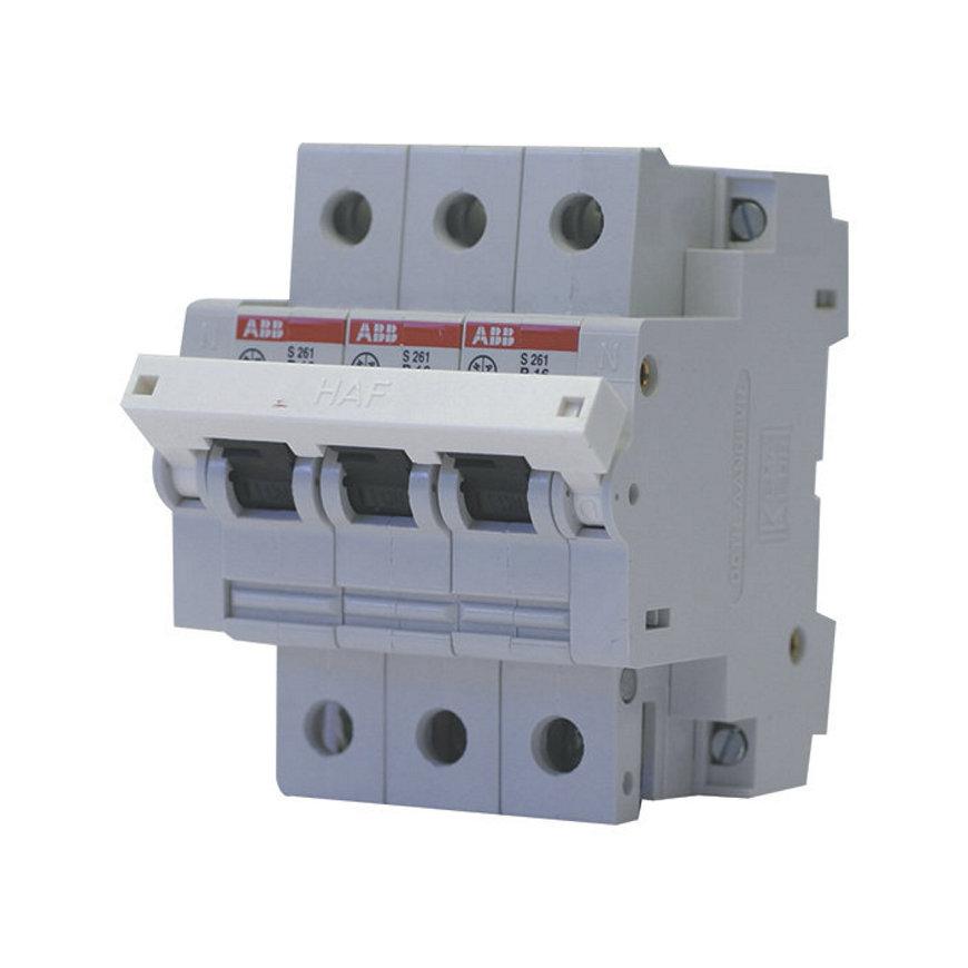 ABB hafomaat installatie-automaat voor fornuisgroep, 4-polig, 16 A - 400 V, 6 kA, B/snel