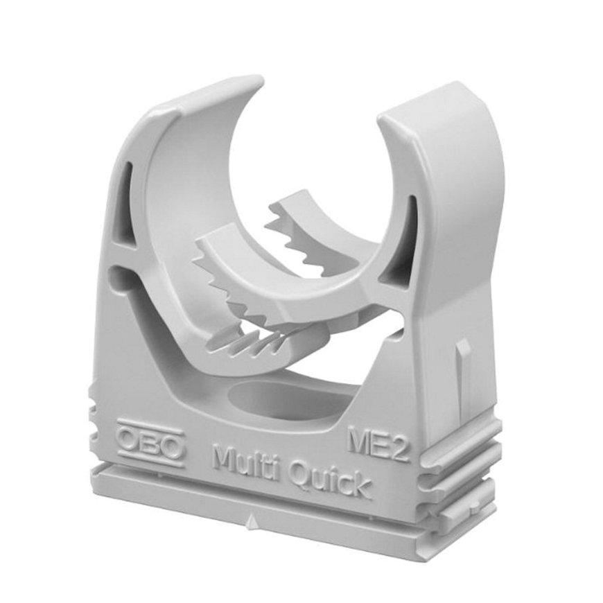 OBO Multi-Quick buisklem, koppelbaar, pa, 25 - 32 mm, lichtgrijs