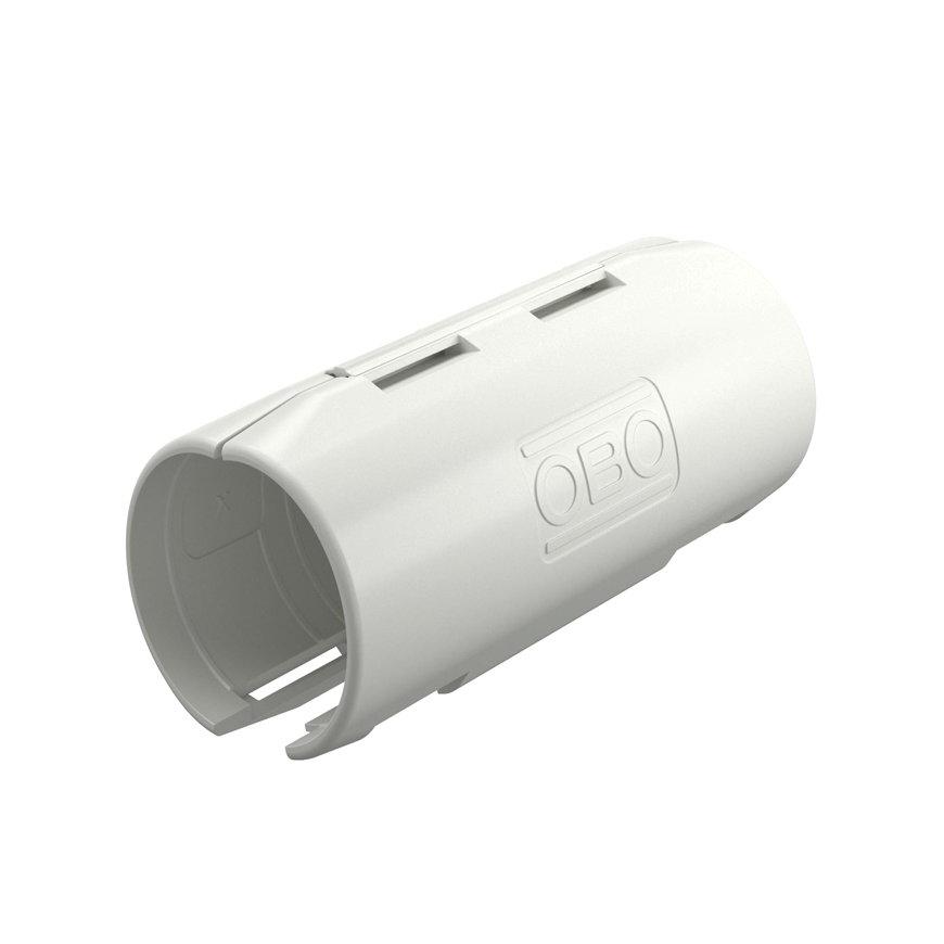 OBO pvc Quick-Pipe sok, 2-delig, M20, zuiver wit 9010