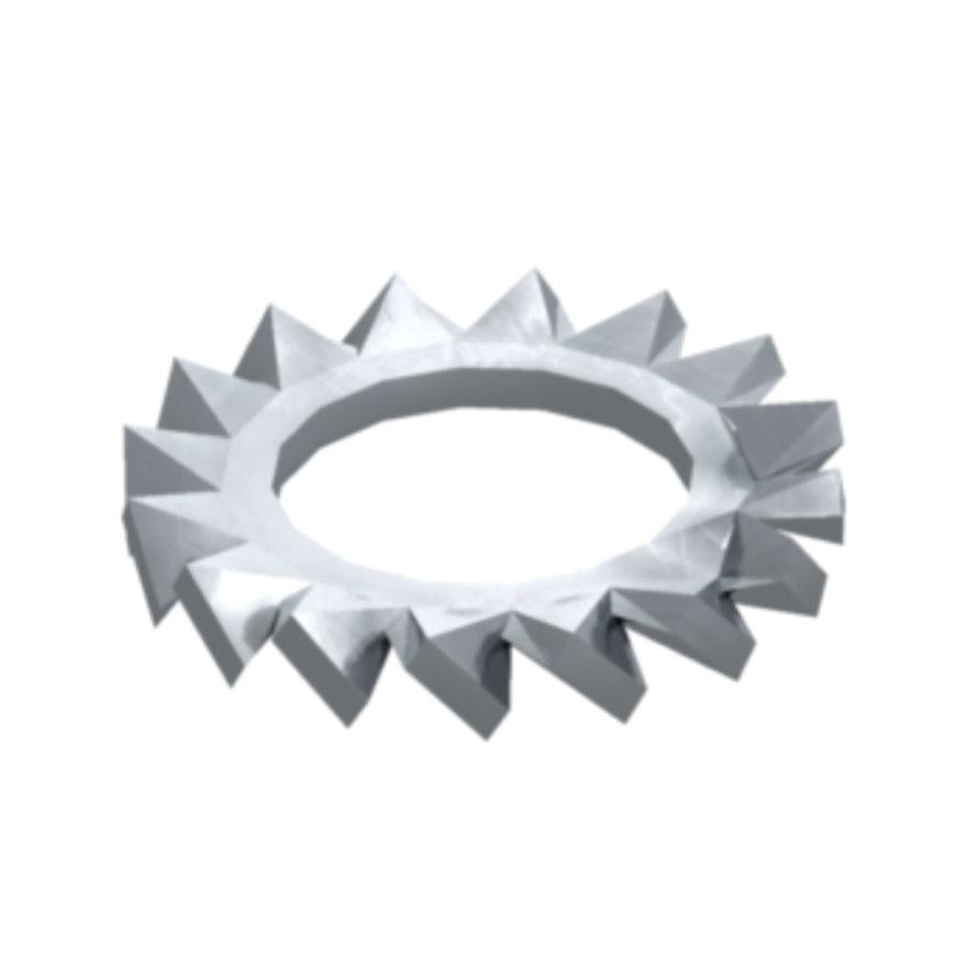 OBO sluitring, gekarteld, rvs A2, DIN 6798, M6, d = 6,4 mm