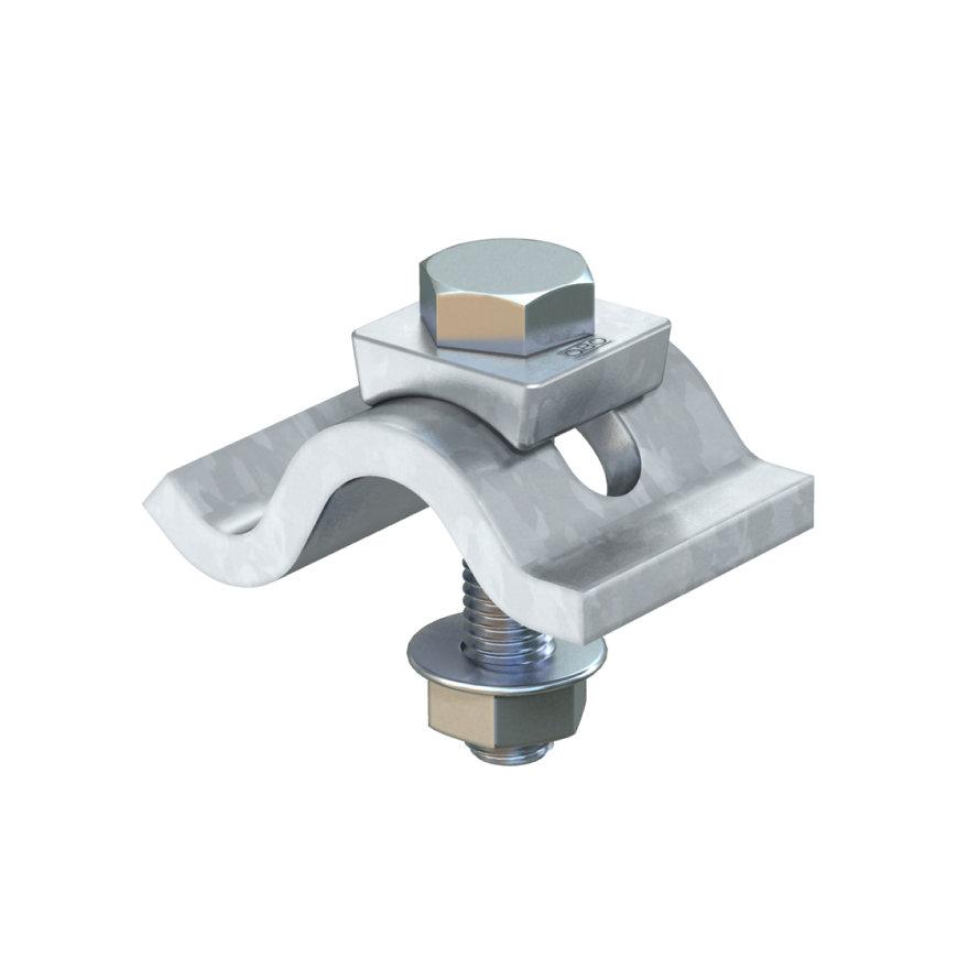 OBO spanklem met combimoer, staal, M10 x 50 mm