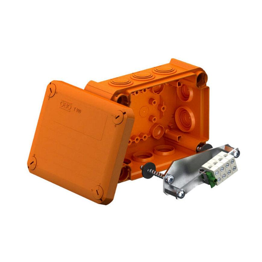 OBO kabeldoos voor functiebehoud, pp, oranje, 6 mm², 150 x 116 x 67 mm
