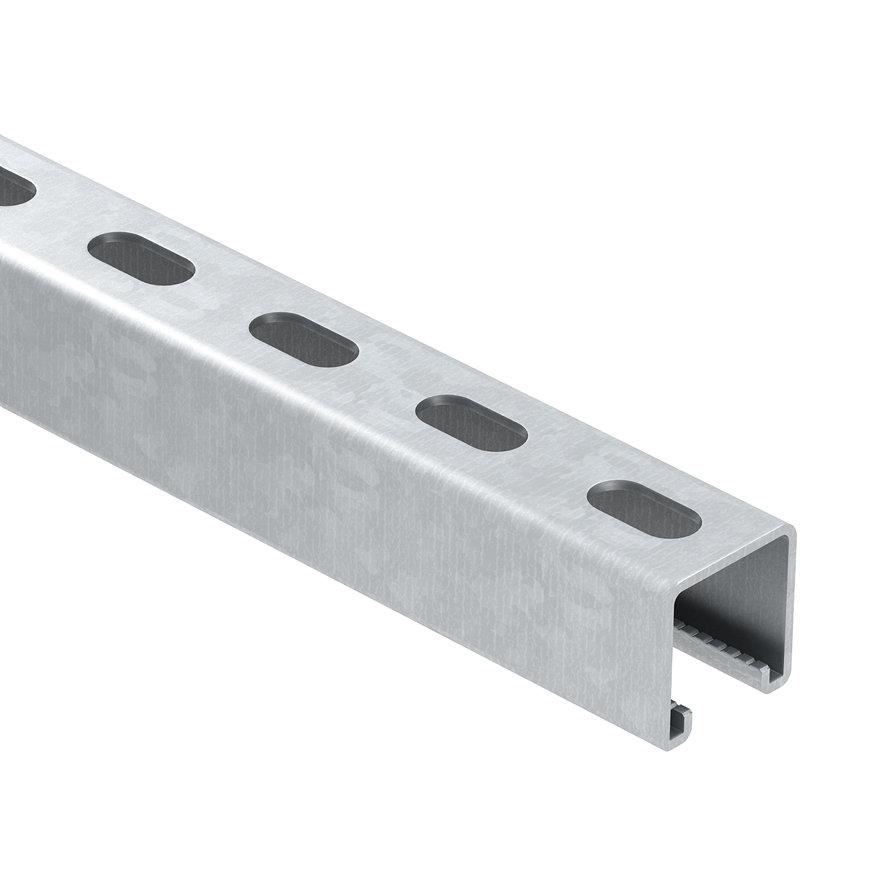 OBO montagerail, staal, thermisch verzinkt, 3000 x 41 x 41 mm, DIN EN ISO 1461