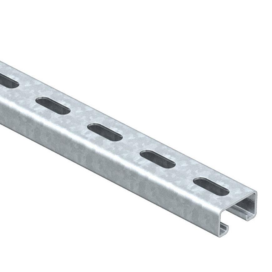 OBO montagerail, staal, sendzimir verzinkt, 2000 x 41 x 21 mm, DIN EN 10346