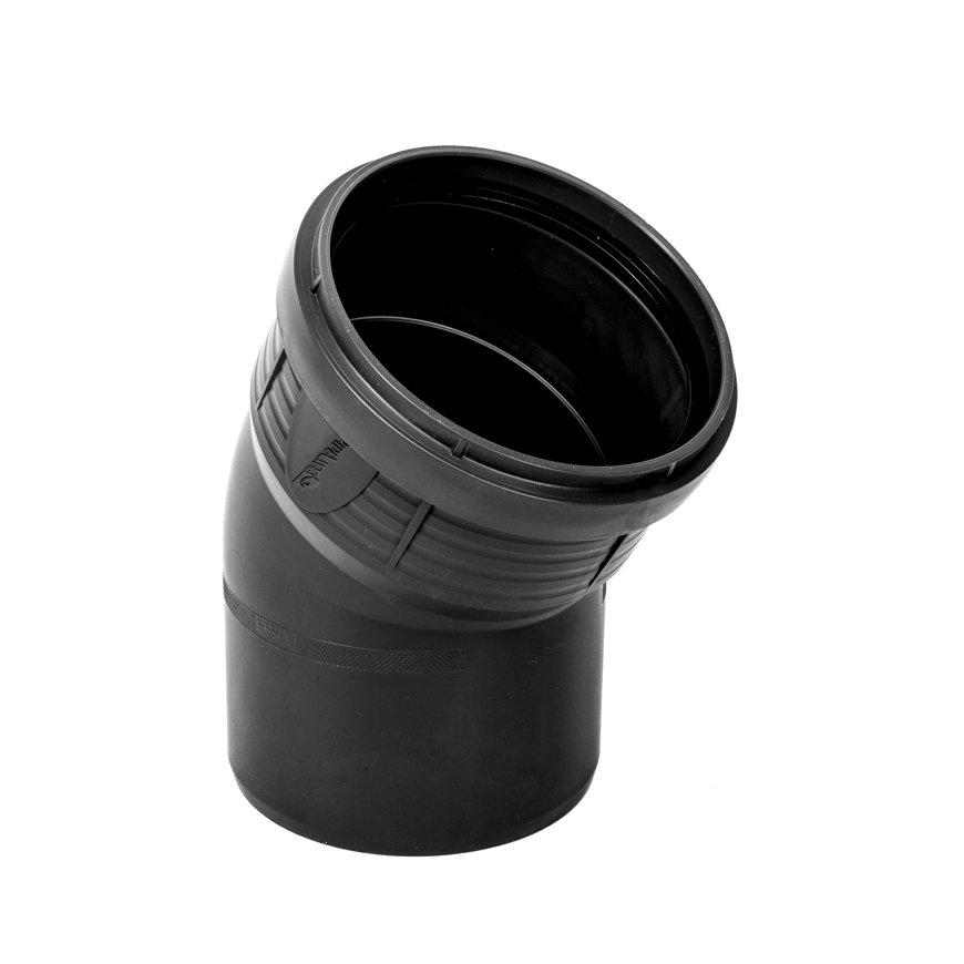 Pipelife MASTER3 PLUS Bogen 30°, Muffex Spitzende, PP, schwarz, 50 mm
