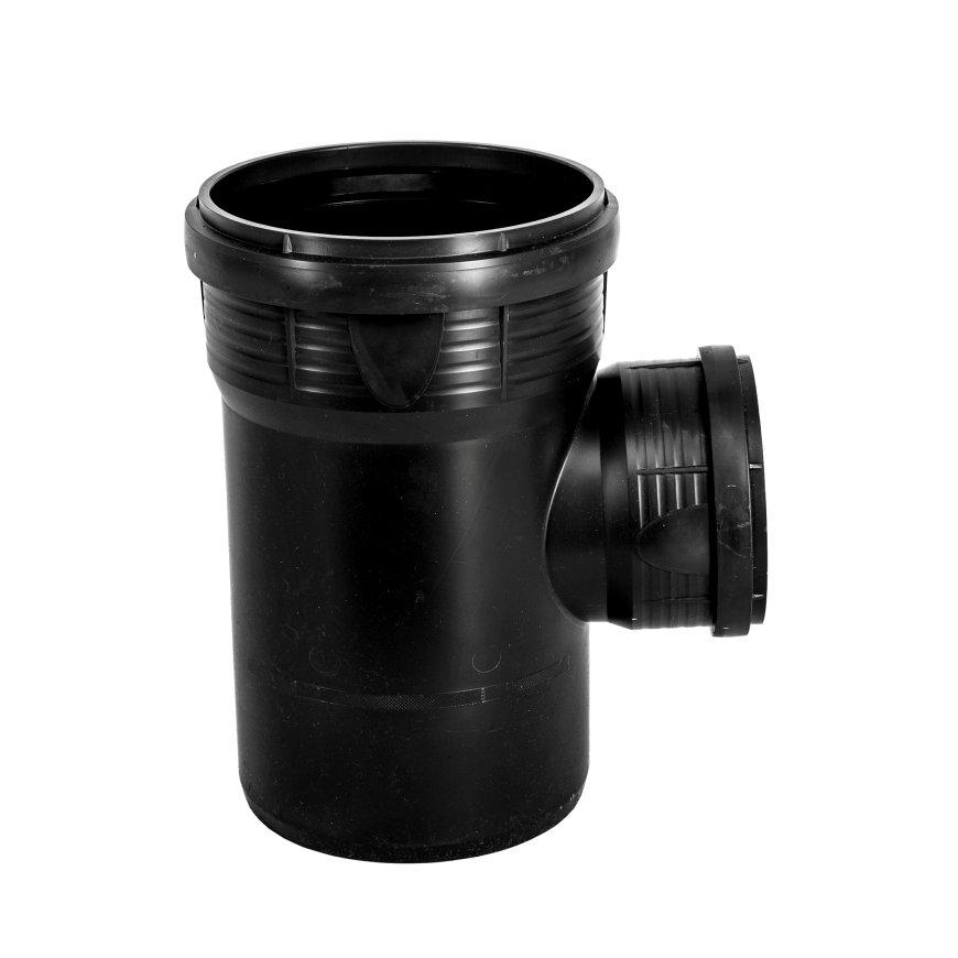 Pipelife MASTER3 PLUS Abzweig 87,5°, 2x Muffe/1x Spitzende, PP, schw., 125x 110mm
