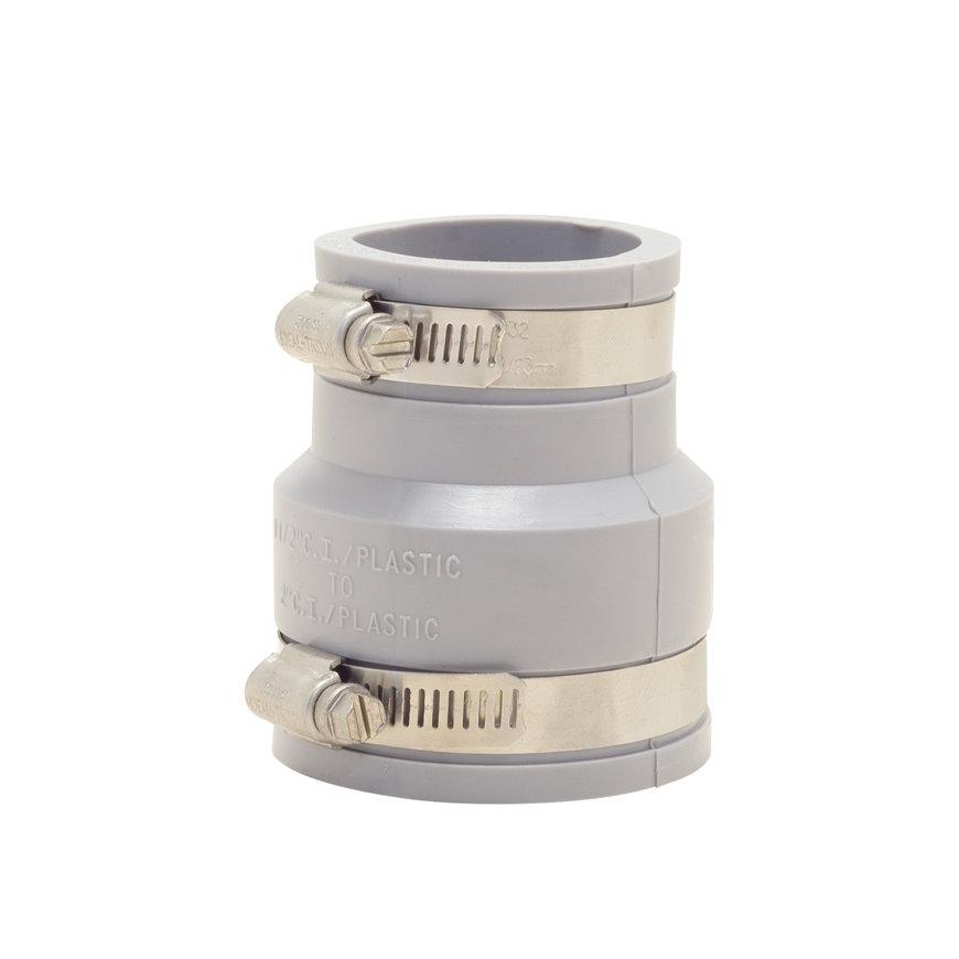 Fernco flexibele verloopkoppeling, 50 - 63 x 40 - 50 mm, grijs