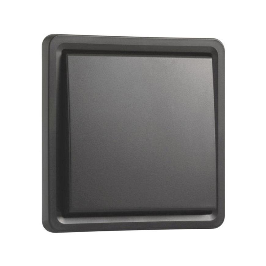 Niko New Hydro spwd wipschakelaar, excl opbouwdoos, zwart, 10 A/250 V, kruis
