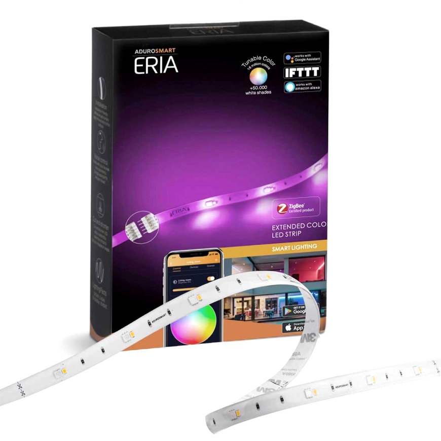 AduroSmart ERIA® led strip, verlengstrip, flexibel, warm tot koud licht + RGB