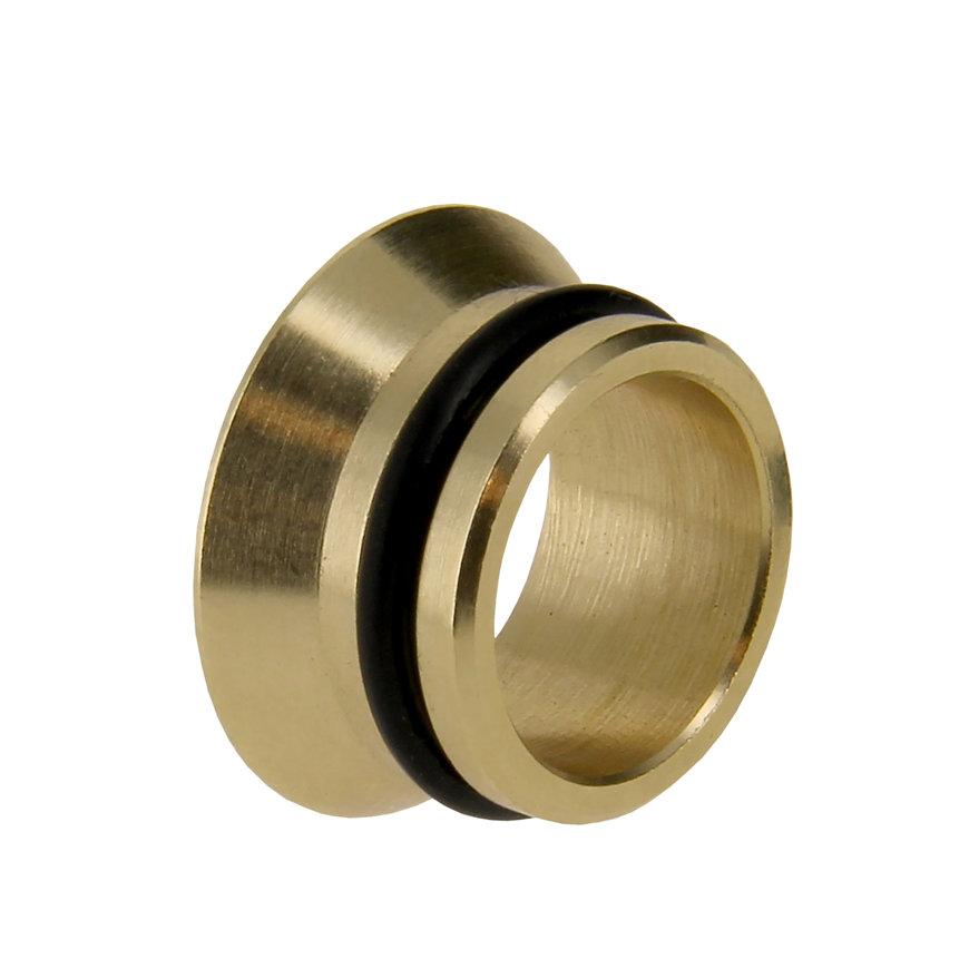 Bonfix messing insert, vlakdichtend, met o-ring, 15 mm