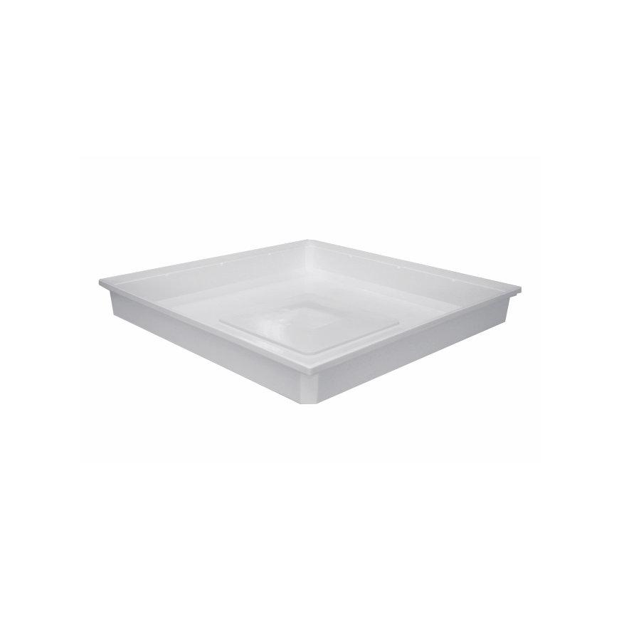 Nedco lekbak t.b.v. vaatwasser en wasmachine, type Standaard, pp, 700 x 700 x 100 mm, wit