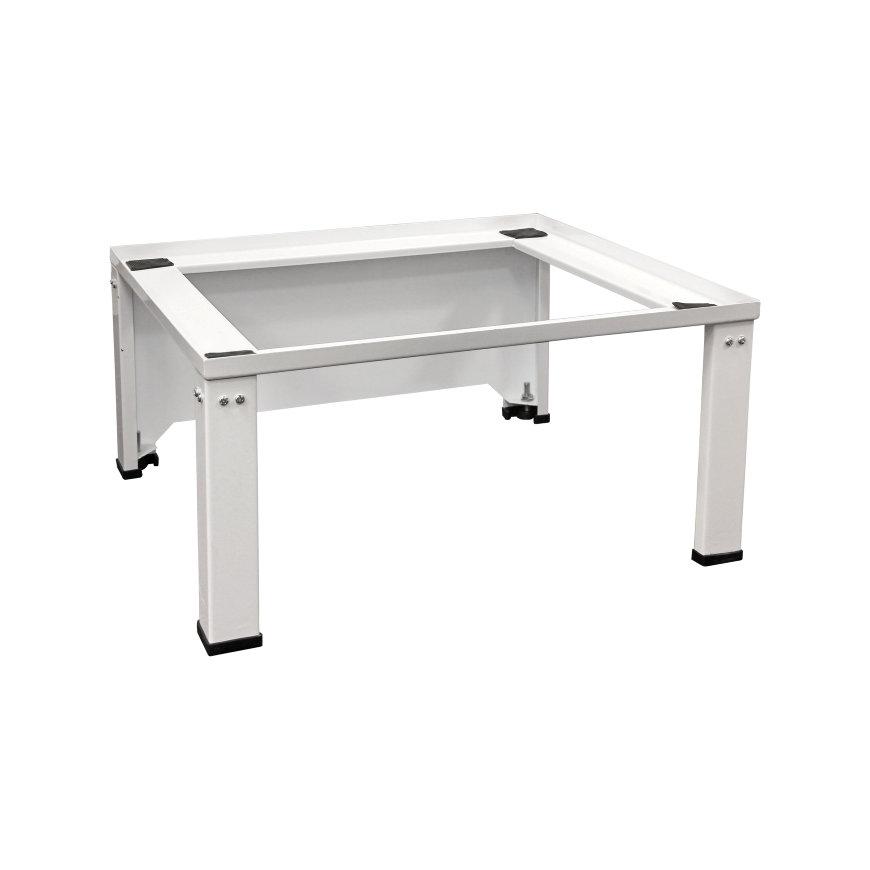 Nedco wasmachine- en drogerverhoger, staal, hoogte verstelbaar, met achterplaat, 610x550x300 mm, wit