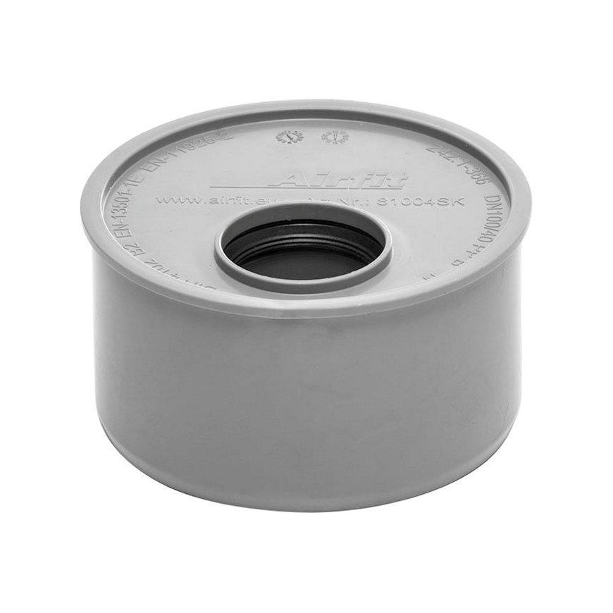 Airfit Reduzierung, PP, Muffex Spitzende, grau, DN 110x40mm
