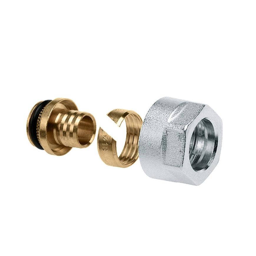 Bonfix adapter, euoconus, voor vloerverwarming, pilaar, knelring en wartel, 16 x 2 mm