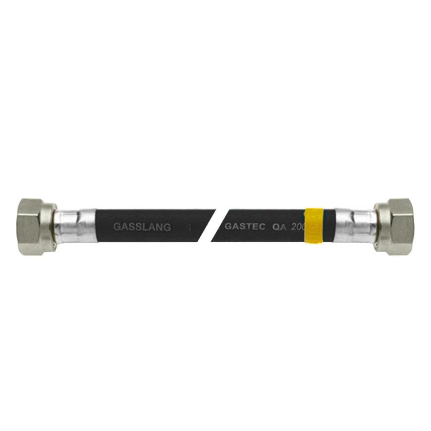 Bonfix gasslangset, universeel, zwart, Gastec, 2x wartel M24, l = 80 cm