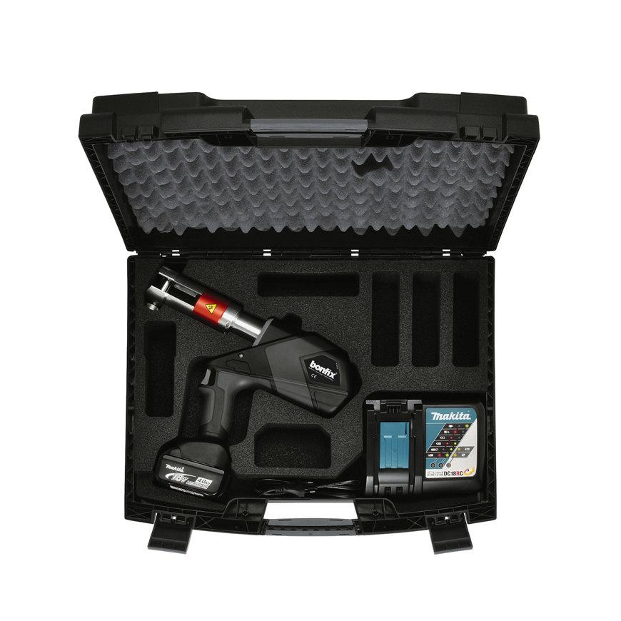 Bonfix medium accu machine, set in koffer, 32kN, type Comfort, 18V - 3,0 Ah