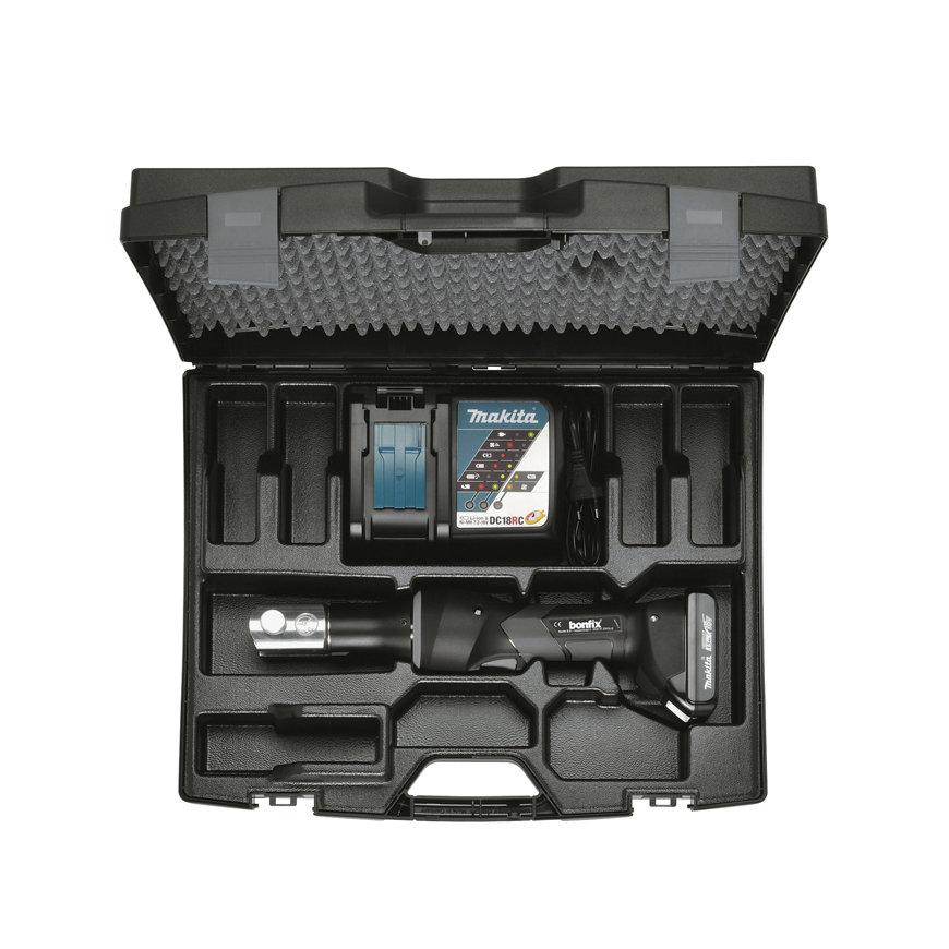 Bonfix mini accu machine, set in koffer, 19kN, type Comfort, 18V - 1,5 Ah