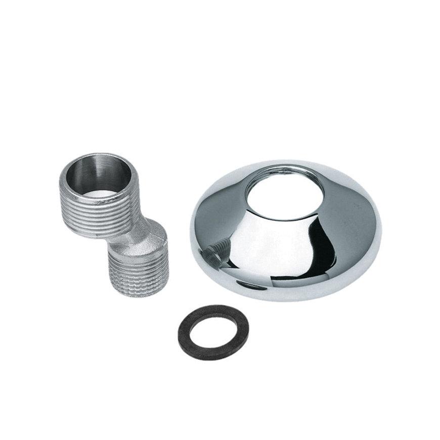 """Bonfix S-koppeling, met rozet, o-ring, 2x buitendraad, 3/8"""" x ¾"""""""