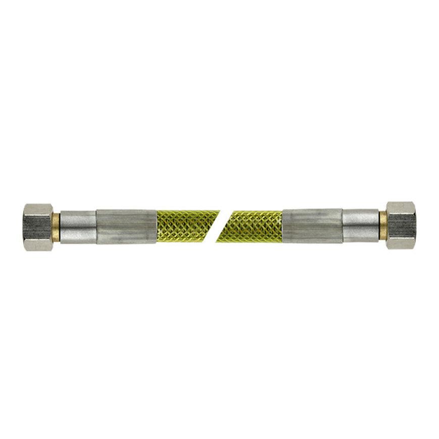 Bonfix superieure rvs gasslang, 2x binnendraad, M24, Gastec, l = 50 cm