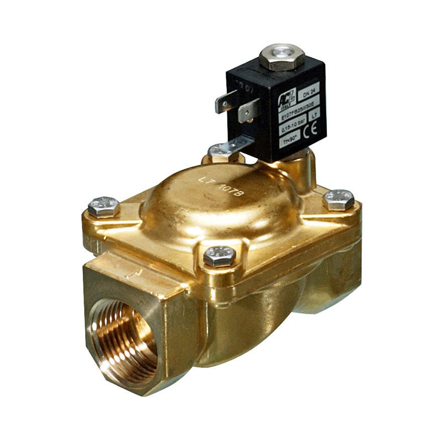 "Socla magneetafsluiter, type WKB2, epdm, 2x binnendraad, 3/8"", NC, 24 V / 50 Hz, 9 W"