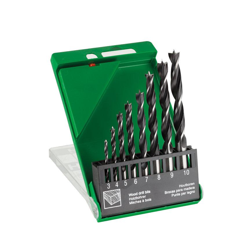 HiKOKI Proline spiraalborenset voor hout, 8-delig, 3-4-5-6-7-8-9-10 mm