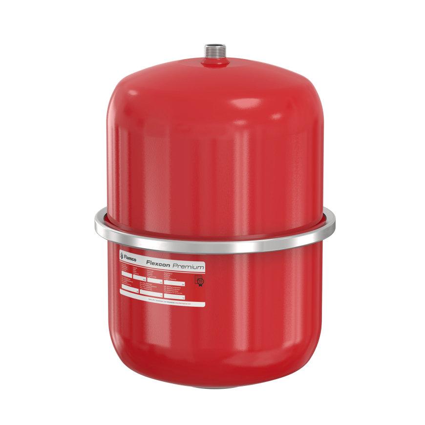 Flamco Flexcon expansievat, type Premium, inhoud 18 liter, 0,5 bar, rood, 3 bar