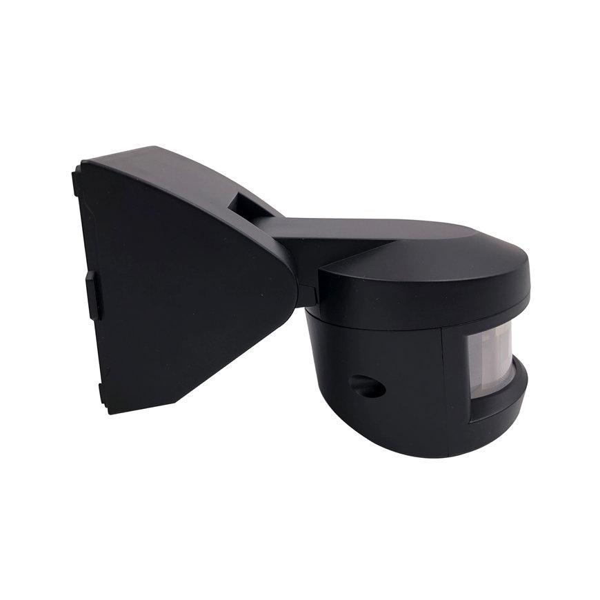 Klemko PIR bewegingsmelder, watcher, opbouw, IP55 1000W, zwart