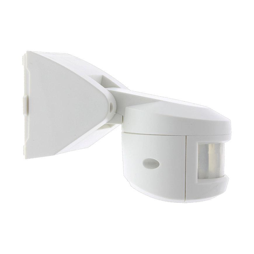 Klemko PIR bewegingsmelder, watcher, opbouw, IP55, 1000 W, wit