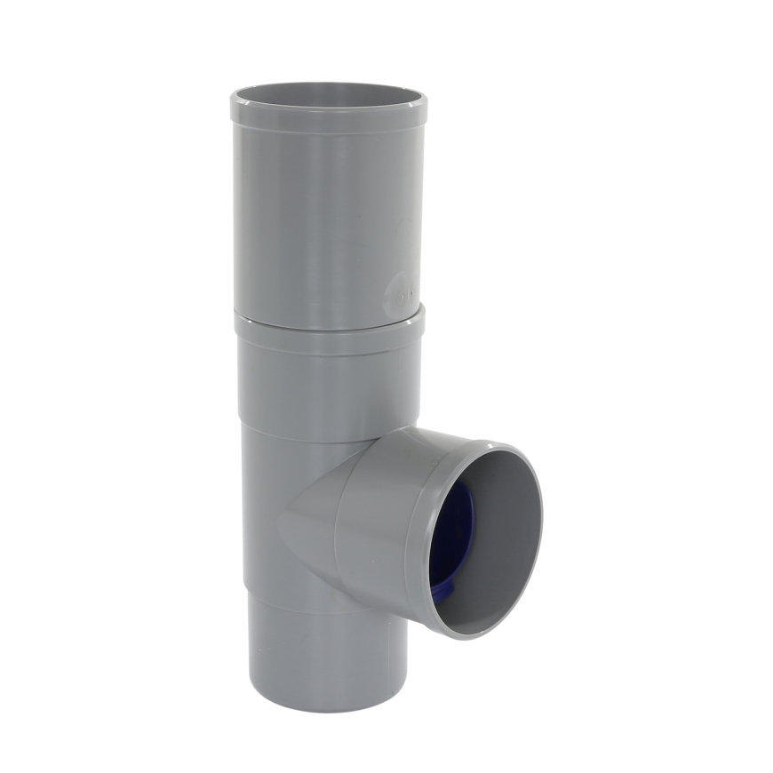 Rawinso regenwater afkoppelset, grijs, 80 mm