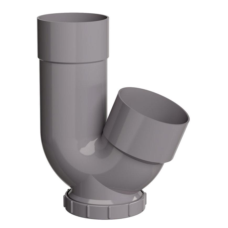 Pvc hwa /rioolsifon, grijs, 100 x 110 mm  default 870x870