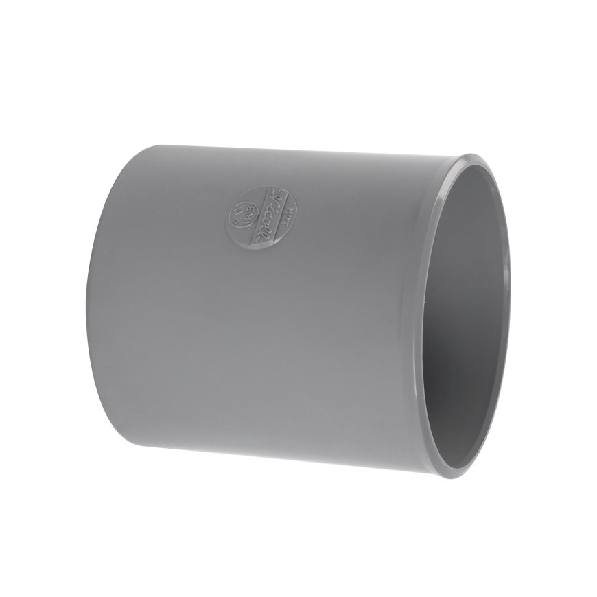 Fallrohr-Muffe, PVC, 2x Klebemuffe, 100 mm