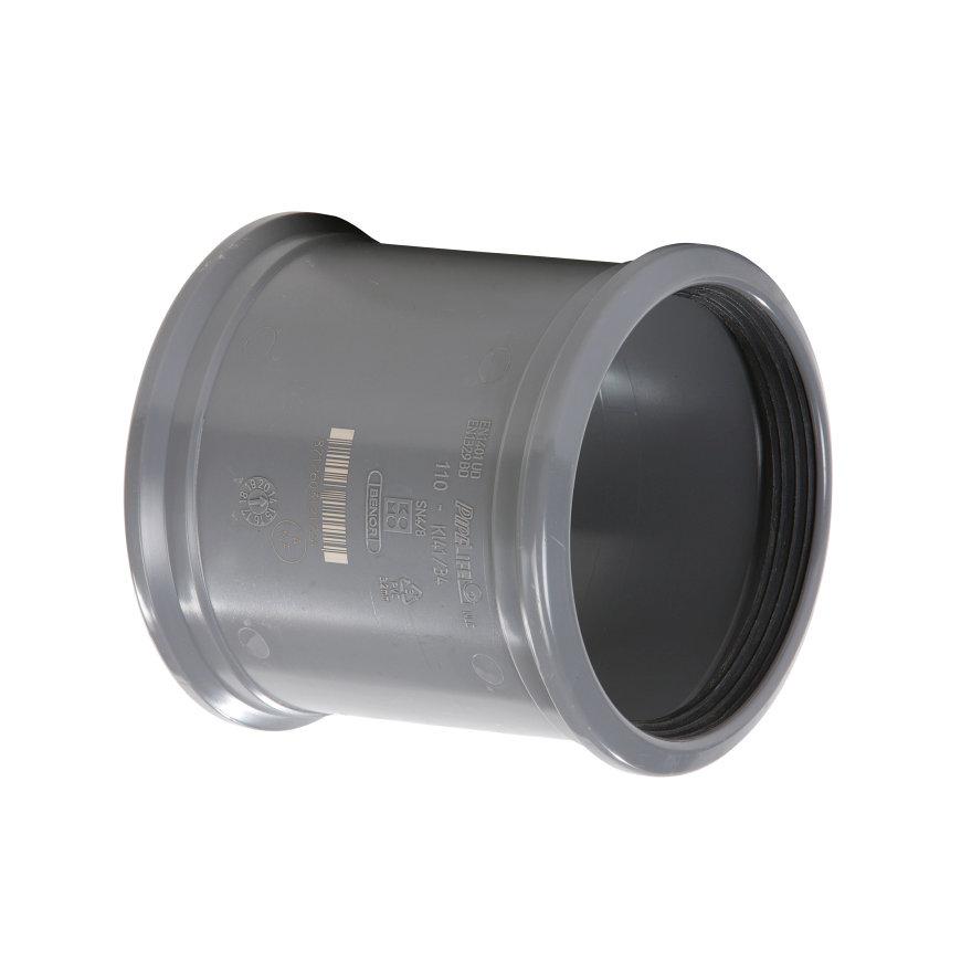 Pipelife pvc overschuifmof, 2x manchet, KOMO, SN4, 200 mm
