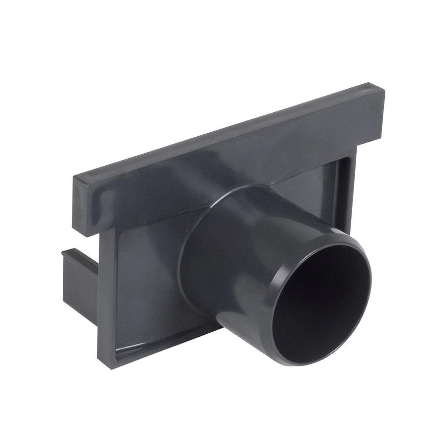 Nicoll pvc eind- / uitlaatstuk voor horizontale aansluiting, voor afvoergoot Kenadrain HD100, 50 mm