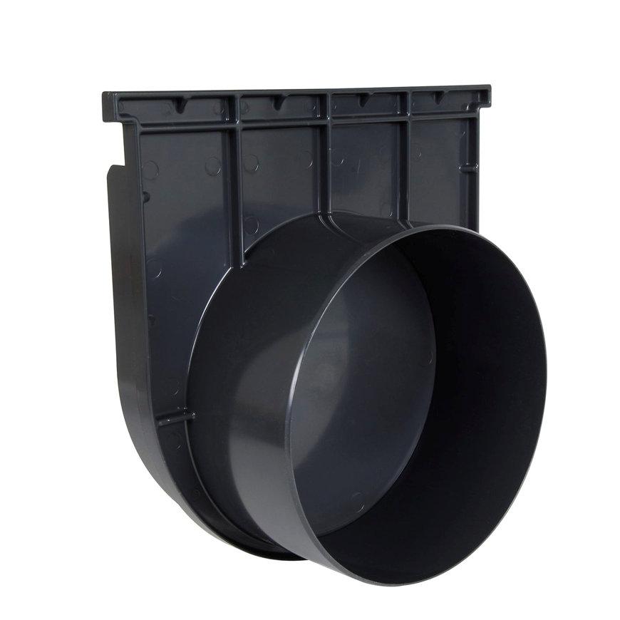 Nicoll pvc eind- / uitlaatstuk voor horizontale aansluiting, voor afvoergoot Kenadrain HD300, 250mm