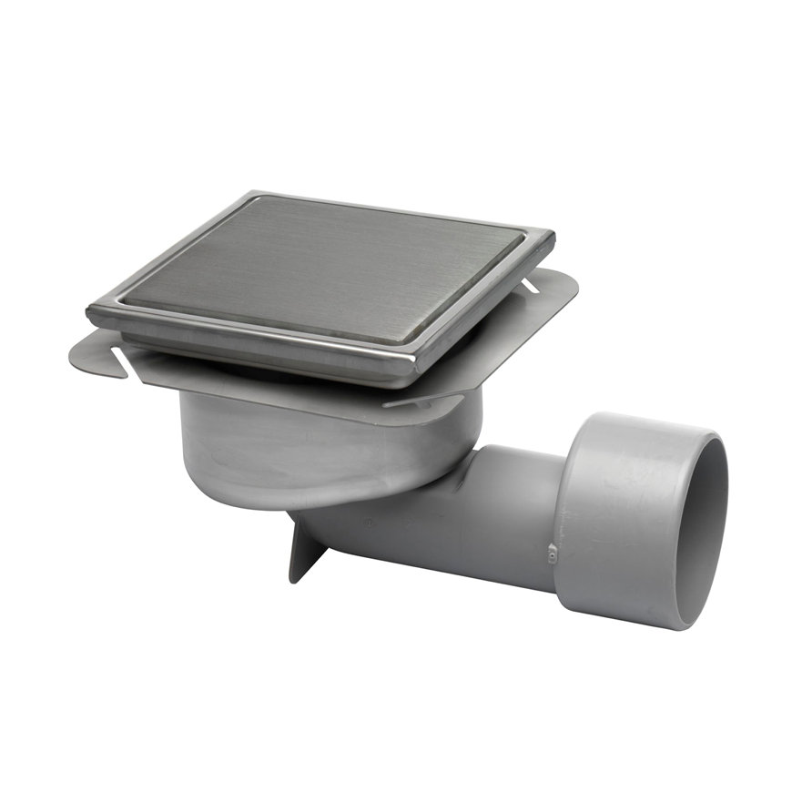 Blücher Compact afvoerput in hoogte verstelbaar, rvs, 197 x 197 mm, met 10 mm luchtdicht deksel, za